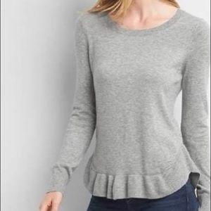 NWT Gap ruffle wool blend sweater